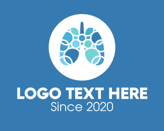 Circular - Blue Lung Circular Rings logo design