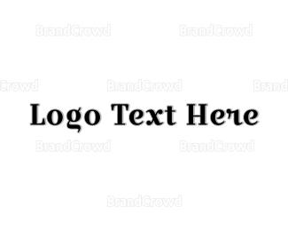Wordmark - Classic Black Wordmark logo design