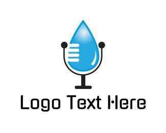 Podcast - Water Talk logo design