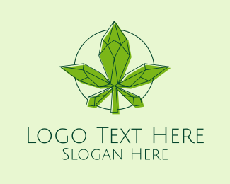 Marijuana Dispensary - Minimalist Marijuana Leaf  logo design