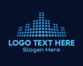 Town - Tech Town Data logo design