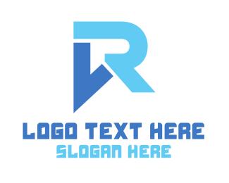 Vr - Modern VR Monogram logo design