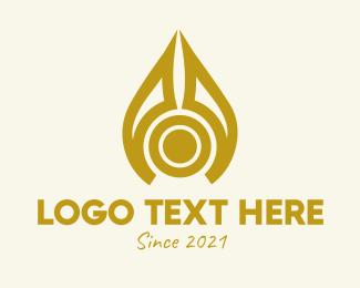 Liquid - Liquid Oil Drop logo design
