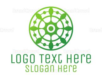 Agricultural - Green Floral Shield logo design