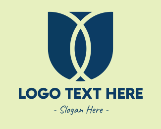 Floral Design - Abstract Tulip logo design