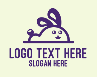 Plushy - Cute Bunny Mascot logo design