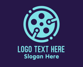 Cinema - Blue Cinema Tech  logo design