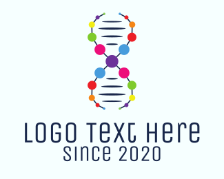 Dna Chromosome - Genetical Science logo design