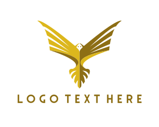 Gold Bird - Golden Eagle logo design