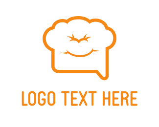 Cook - Chef Chat logo design