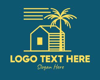 Simple Beach House Logo