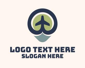 Aeronautics - Aeronautics Plane Location logo design