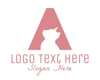Please - Cat Letter A logo design