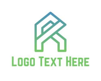 Architect - Letter R Home logo design