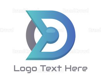 Blue And Gray - Blue Gray D Compass  logo design