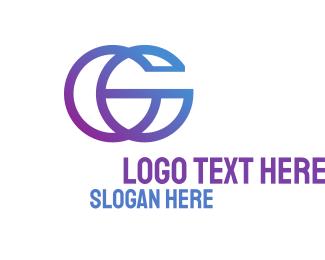 Brushstroke - C & G Monogram logo design