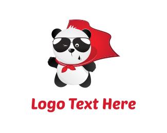 Cape - Panda Hero logo design