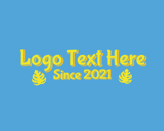 """""""Yellow Tropical Wordmark"""" by brandcrowd"""