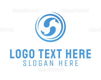 Aquarium - Blue Fishes logo design