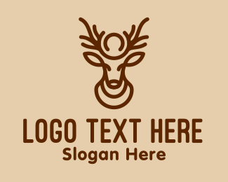 Deer - Brown Minimalist Deer logo design
