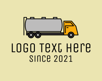 Oil - Oil Tanker Truck logo design