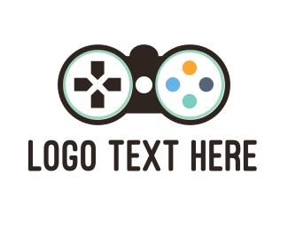 Remote - Binocular Controller logo design