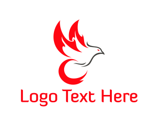 Fire - Fire Bird logo design