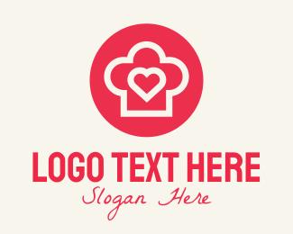 Hat - Heart Baking Hat logo design