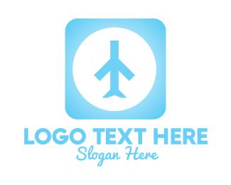App Store - Blue Plane App logo design