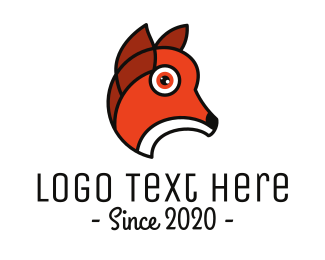 Orange Puppy - Orange Animal Outline logo design