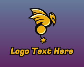 Yellow Insect - Esport Gaming Bomb Wasp logo design