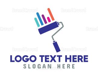 Advertising - Roller Brush Statistics  logo design