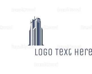 Building - Blue Architectural Building logo design