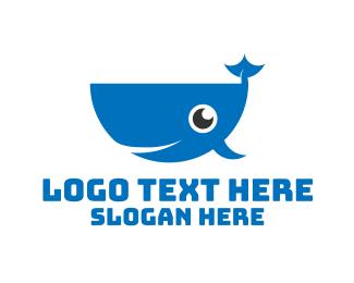Swim - Blue Whale logo design