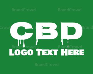 Cbd - CBD Font logo design