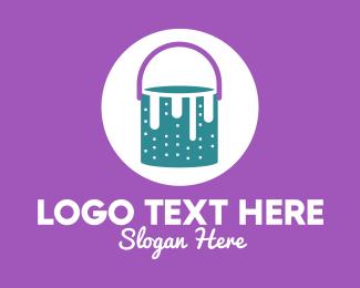 Graphic - Pastel Paint Bucket logo design