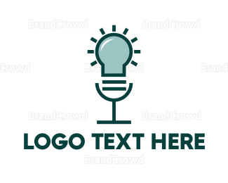 Bulb - Idea Voice Lamp logo design