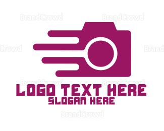 Editor - Fast Pink Photography logo design