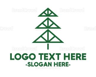 Carpenter - Minimalist Pine logo design