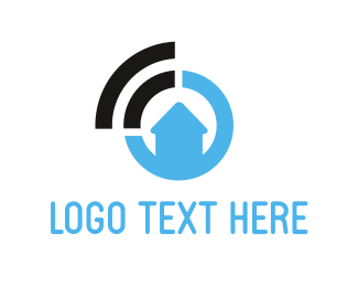 Wifi - Home Signal logo design