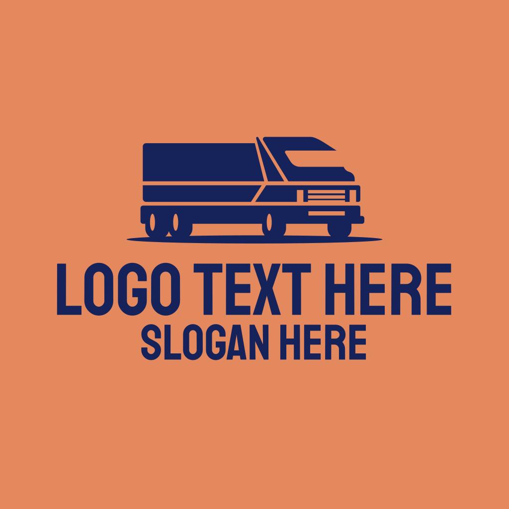 Orange Cargo Truck Logo | BrandCrowd Logo Maker