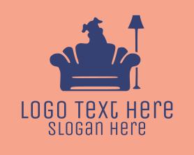 Puppy - Dog Sitter Silhouette logo design