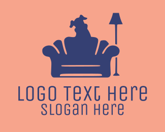 Sofa - Dog Silhouette logo design