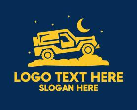 Night - Night Drive Jeep logo design