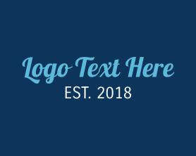 Letter - Stylish Blue logo design