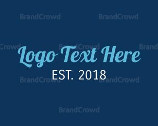 Tagline - Stylish Blue logo design