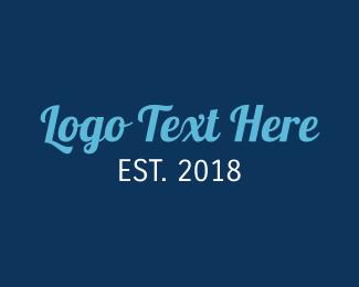 Wordmark - Stylish Blue Text logo design