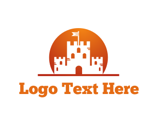 Fortress - Sunrise Castle logo design