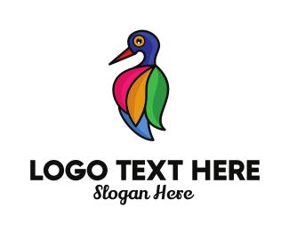 Natural Reserve - Colorful Bird Salon Feathers logo design
