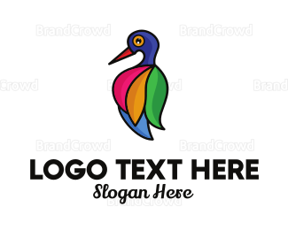 Salon - Colorful Bird Salon logo design